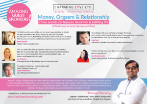 Money, Orgasm & Relationship', our workshop held in Mar, London (7)